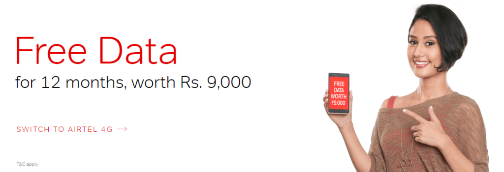 Airtel One Year Plan Get Free 3GB 4G Data Every