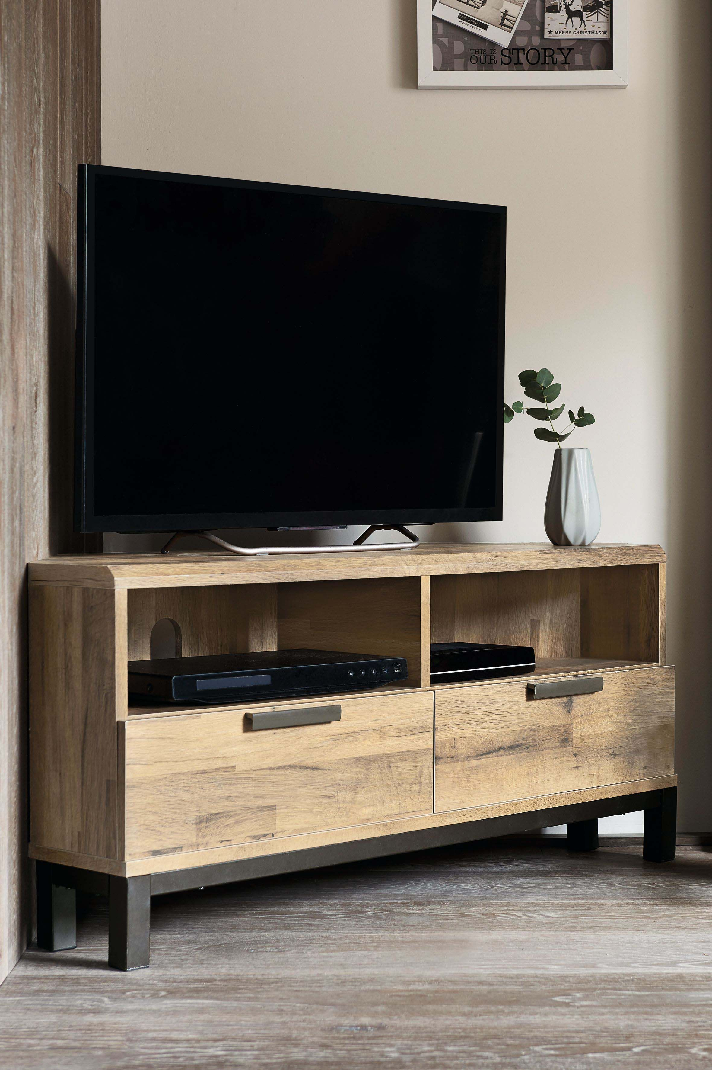 Next Bronx Light Corner Tv Stand Natural Products In 2019