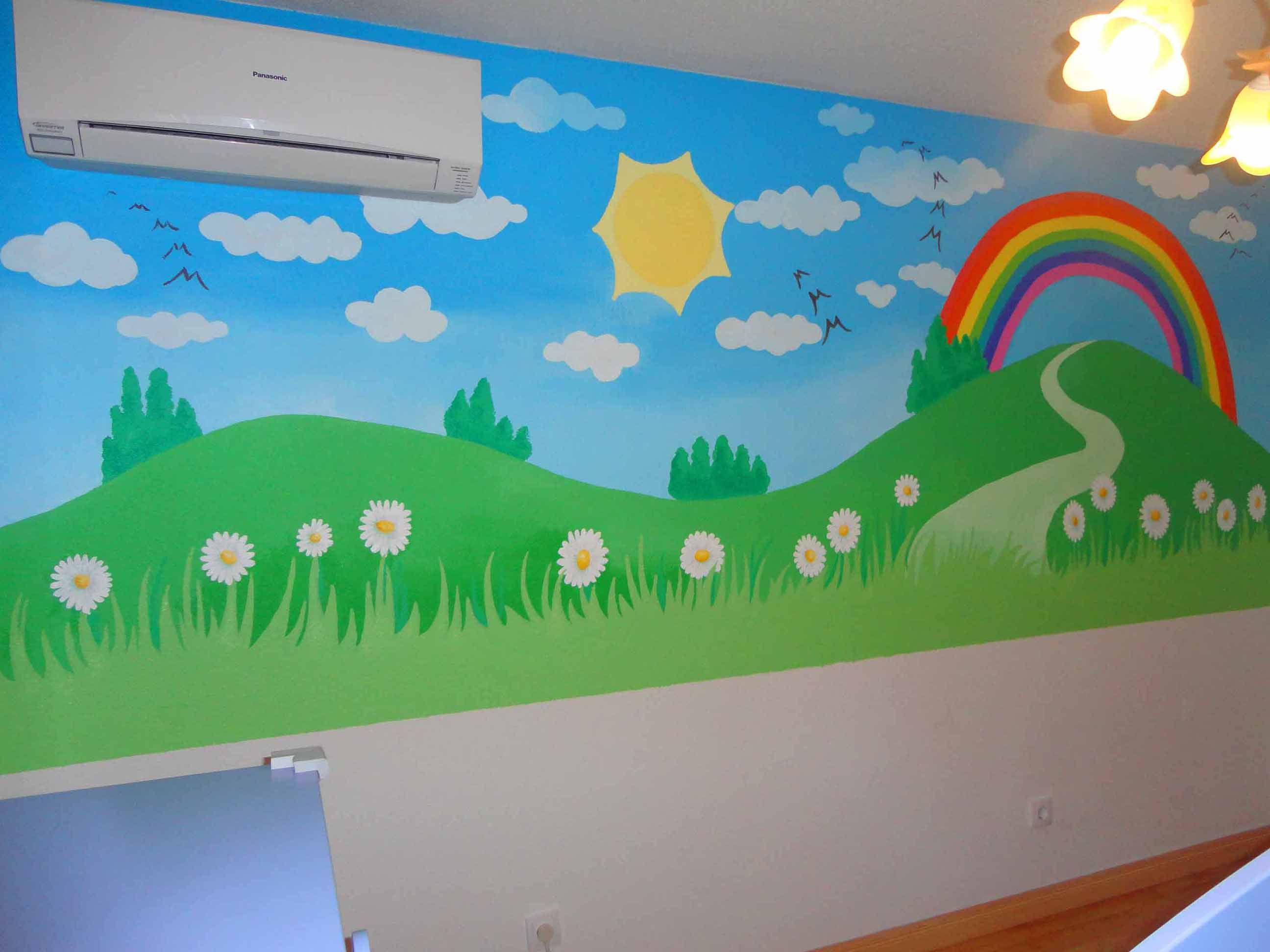 Paisajes para pintar en una pared buscar con google - Pintar paredes infantiles ...