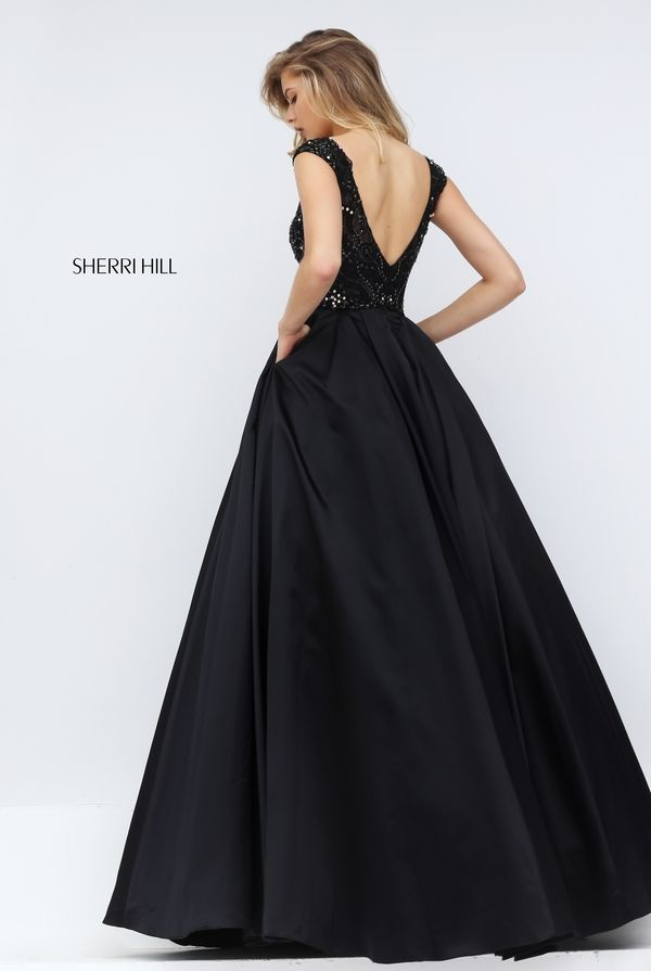 Sexy Black Prom Dress, Beading Prom Prom Dress, Cap Sleeve Prom Dress, Long  Evening Gown, High Quality Wedding & Evening Prom DressesWant a glamorous  red ...
