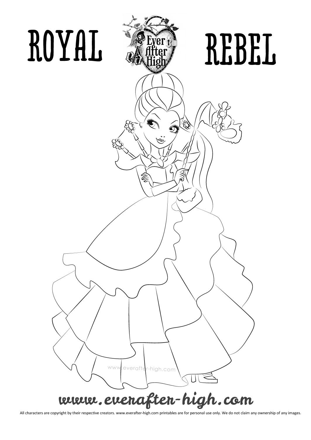 raven-queen-thronecoming-dress-coloring-page | follow my Pigeon ...