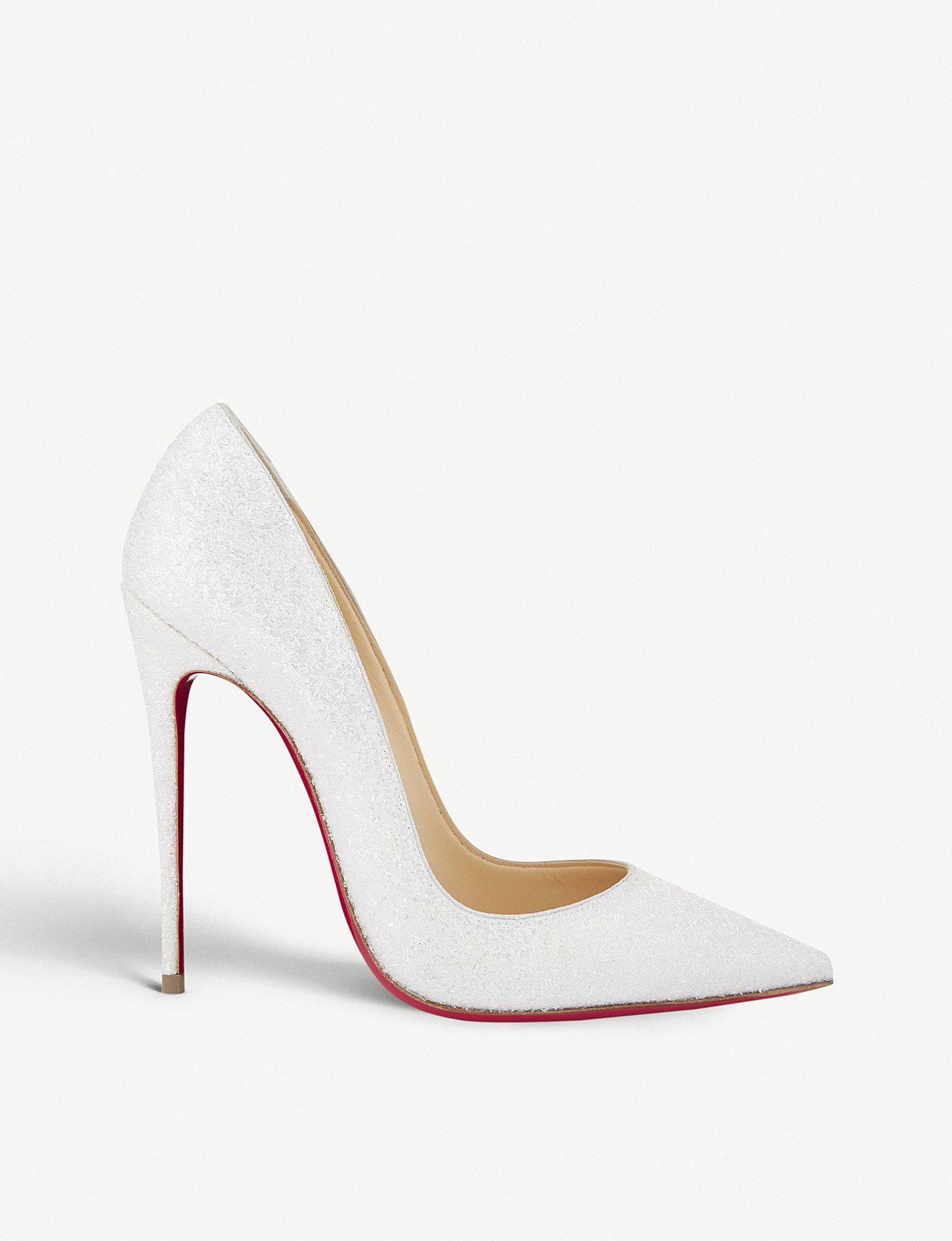 the latest 2b834 0a32b CHRISTIAN LOUBOUTIN So kate 120 glitter givre white in 2019 ...