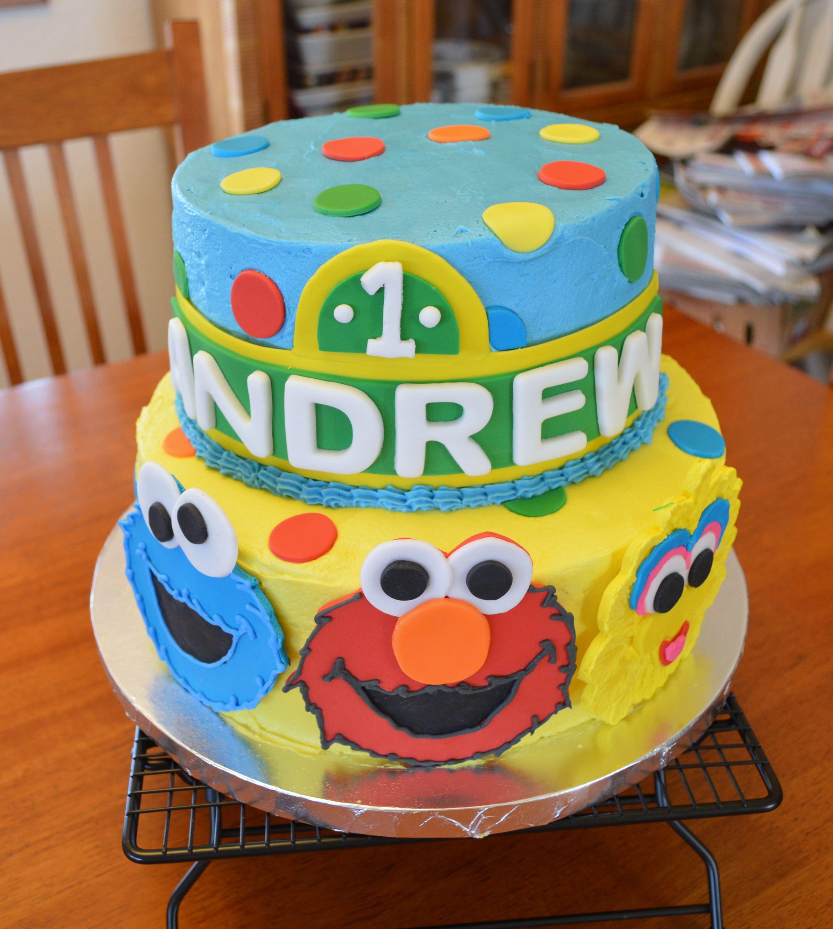 Sesame Street Characters Cake and Elmo Smash Cake Elmo smash