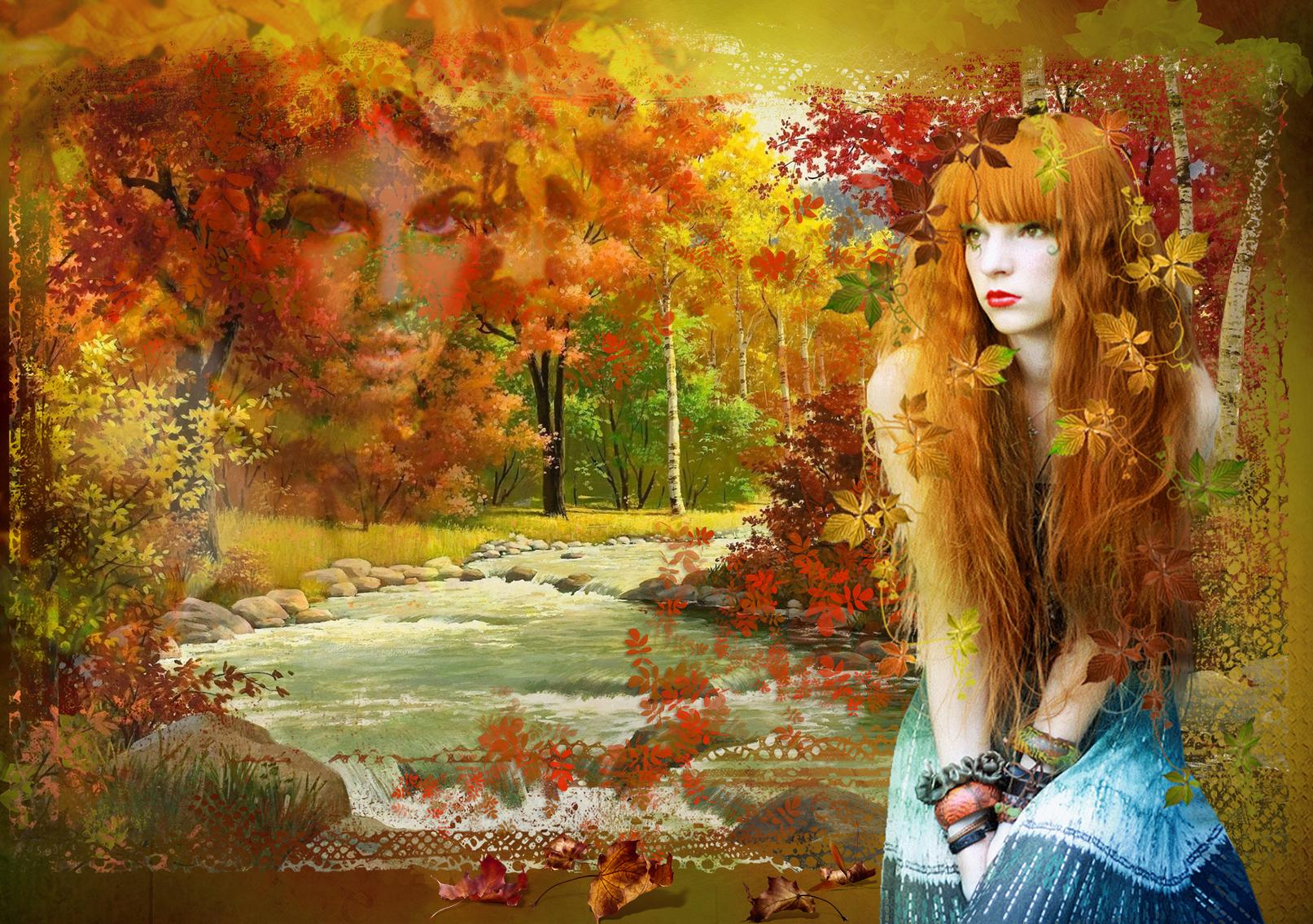 Картинки коллаж анимация пейзаж и девушка