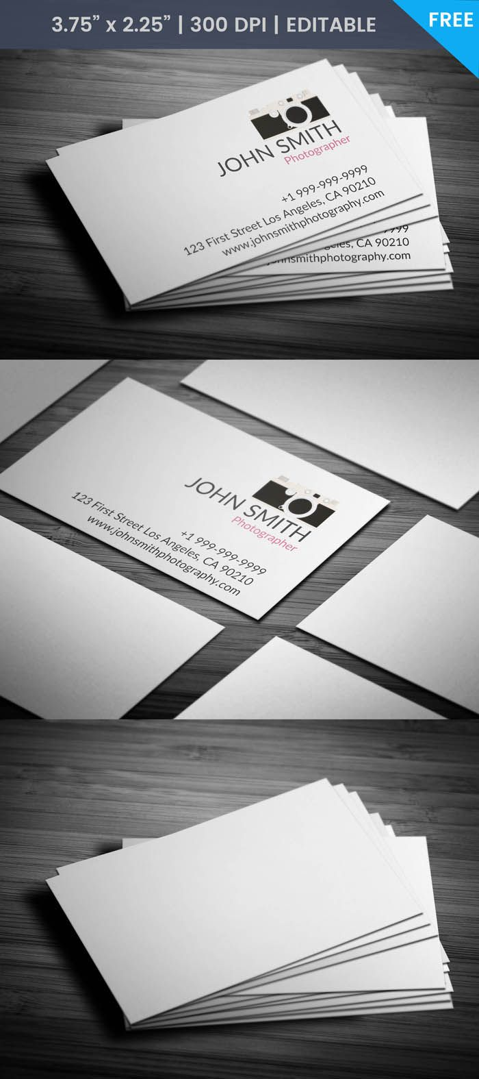 Free Free Creative Photography Business Card | Photography business ...
