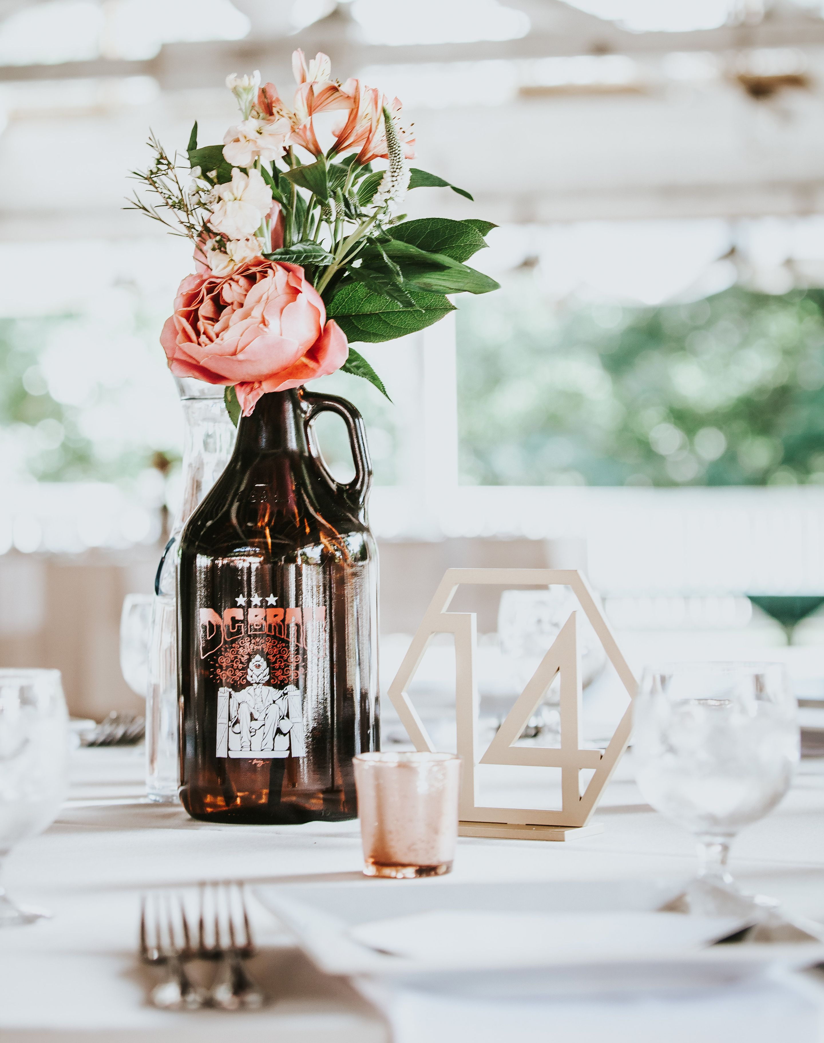 Geometric Table Numbers for Wedding, Wooden Laser Cutout Hexagon ...