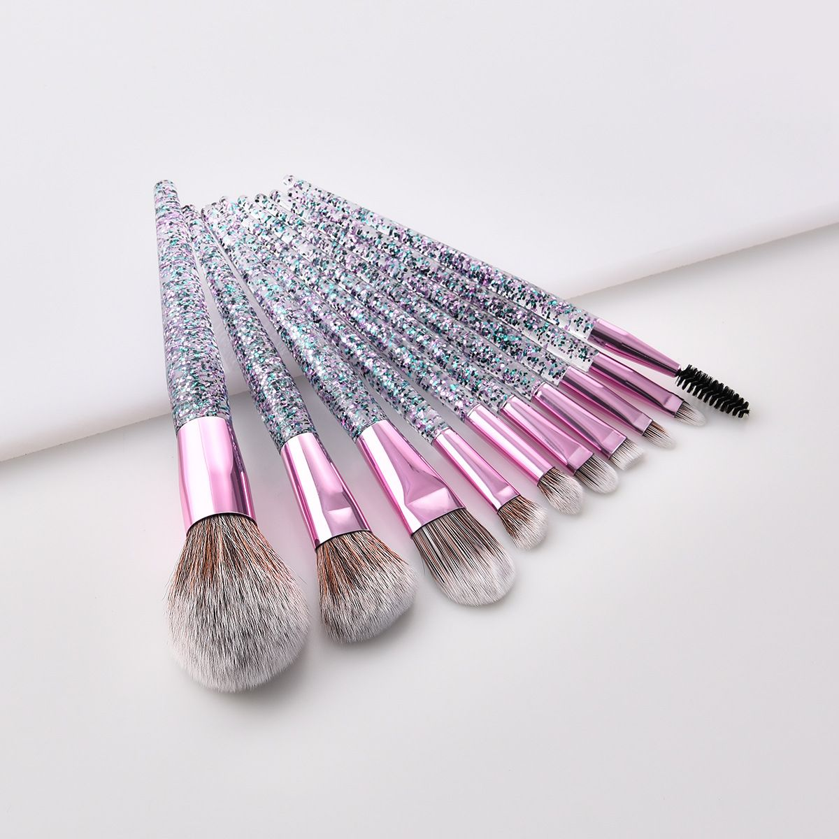 glitter makeup brushes set available wholesale muafan