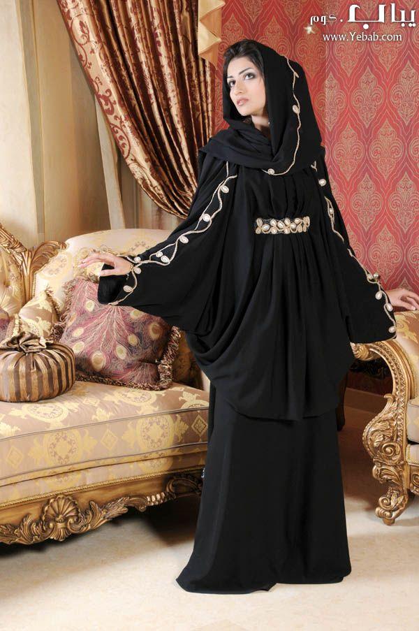 صور عبايات خليجية 2014 موديلات عبايات سوداء خليجية روعة Fashion Attire Modest Fashion Fashion