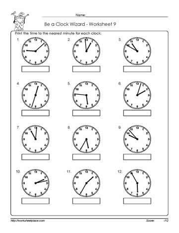 Telling-Time-Worksheet-9   telling time   3rd grade math worksheets ...