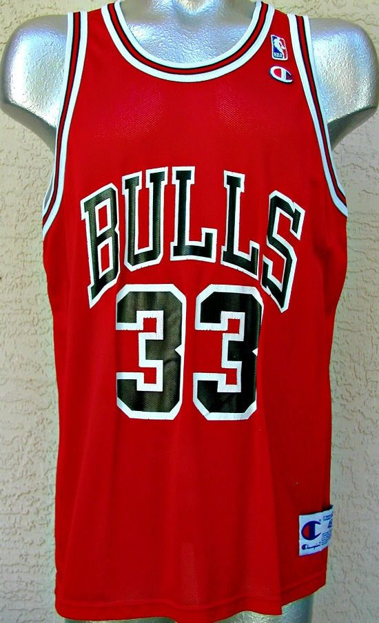 6a99ab57c Vintage Scottie Pippen Jersey-Chicago Bulls 33-Champion 48-NBA Basketball  Shirt  Champion  ChicagoBulls
