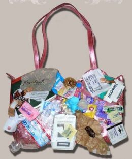 Urban Satchel Louie Vuitton Bag 150 000 The Is Created From All Sorts Of Junk E G Cigarette Packets Water Bottle