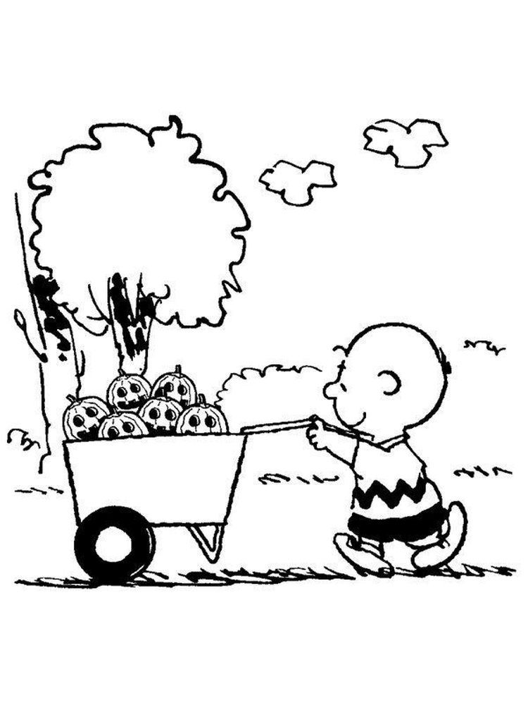 Charlie Brown Thanksgiving Coloring Pages Free Printable Di 2020