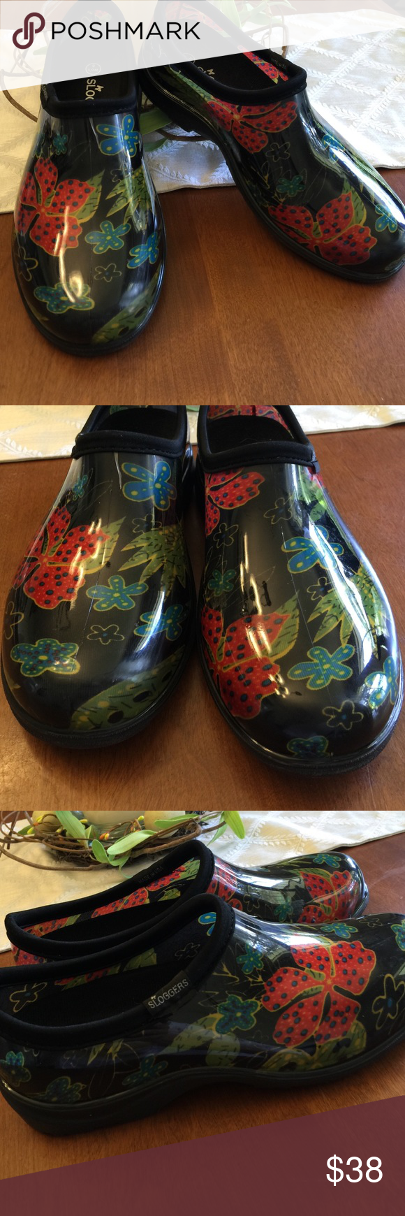 Sloggers Womens Rain/Garden Shoes Floral 8 USA | Clogs, Rain and Floral