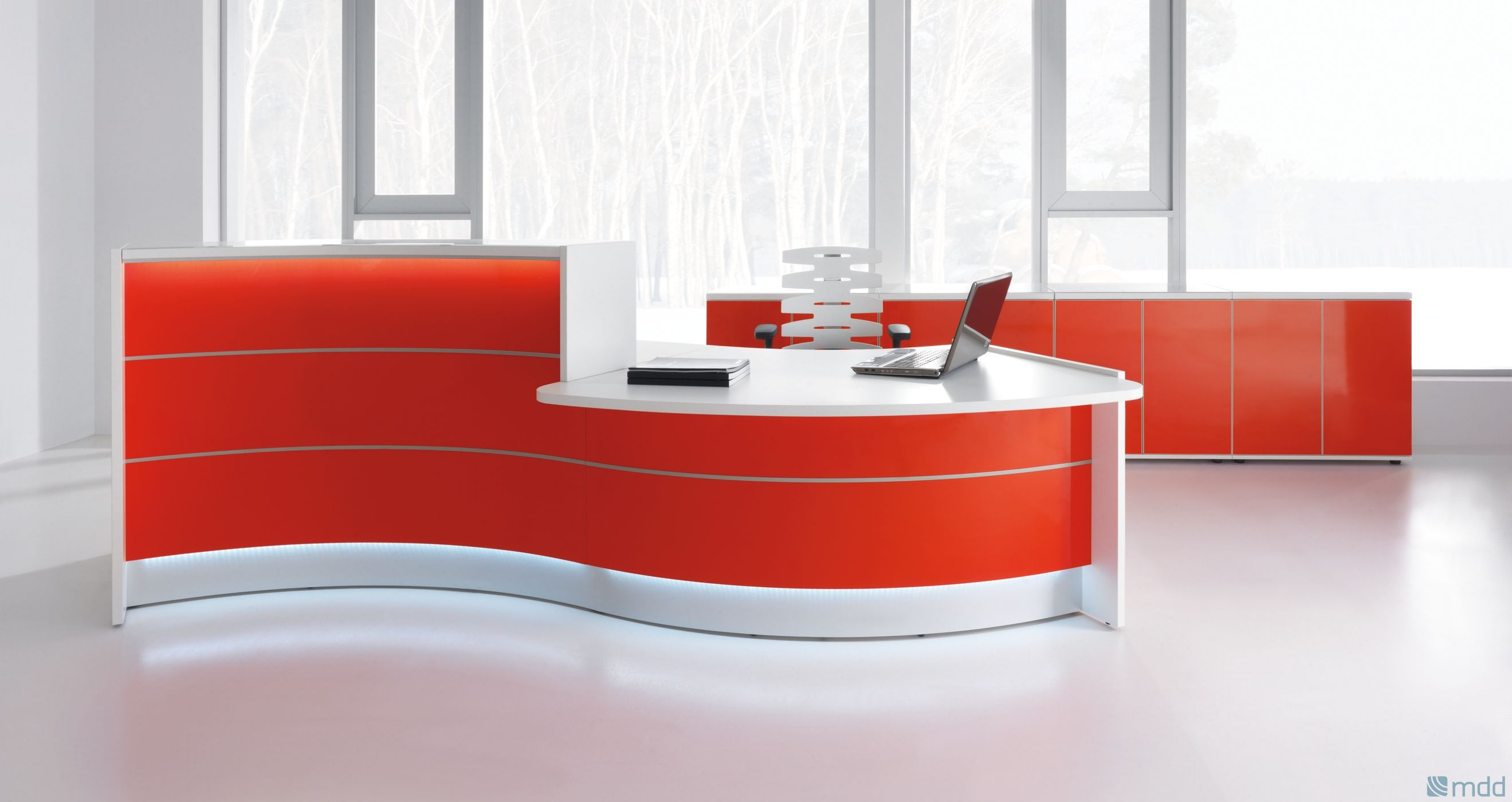 find this pin and more on furniture design intriguing curved desk for home office - Modern Office Furniture Reception Desk