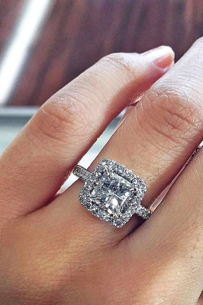 24 breathtaking princess cut engagement rings - Wedding Rings Princess Cut