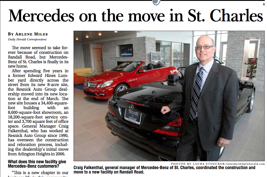 Awesome news article about mercedes benz of st charles for Mercedes benz of st charles