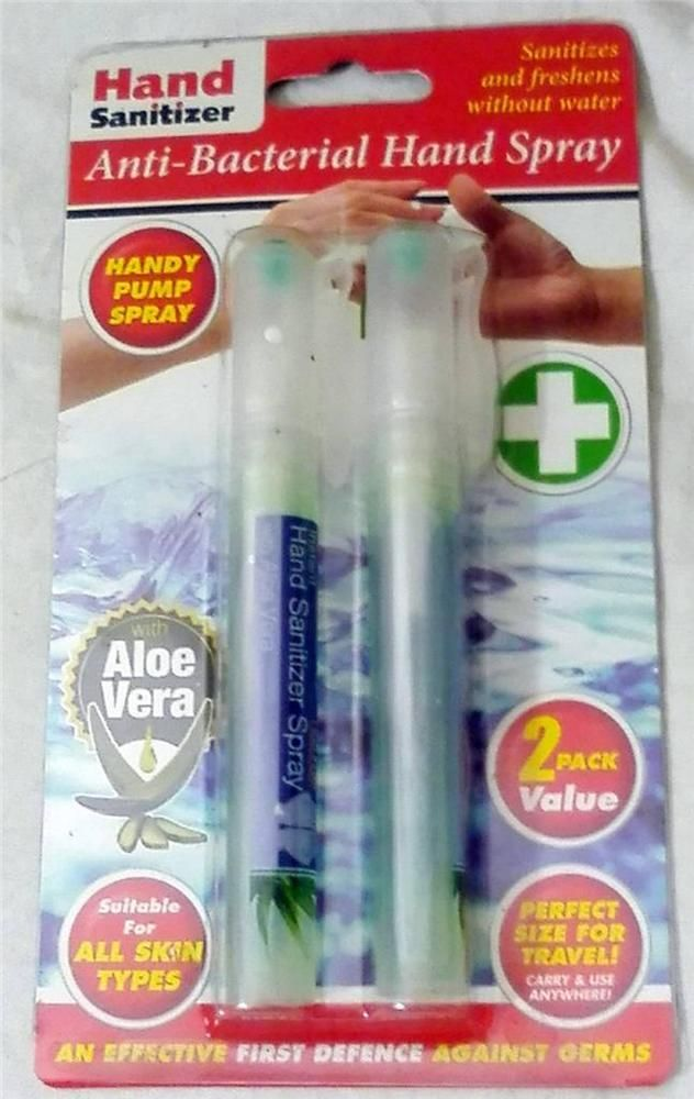 Details About Hand Sanitizer Anti Bacterial Pump Spray Travel Size