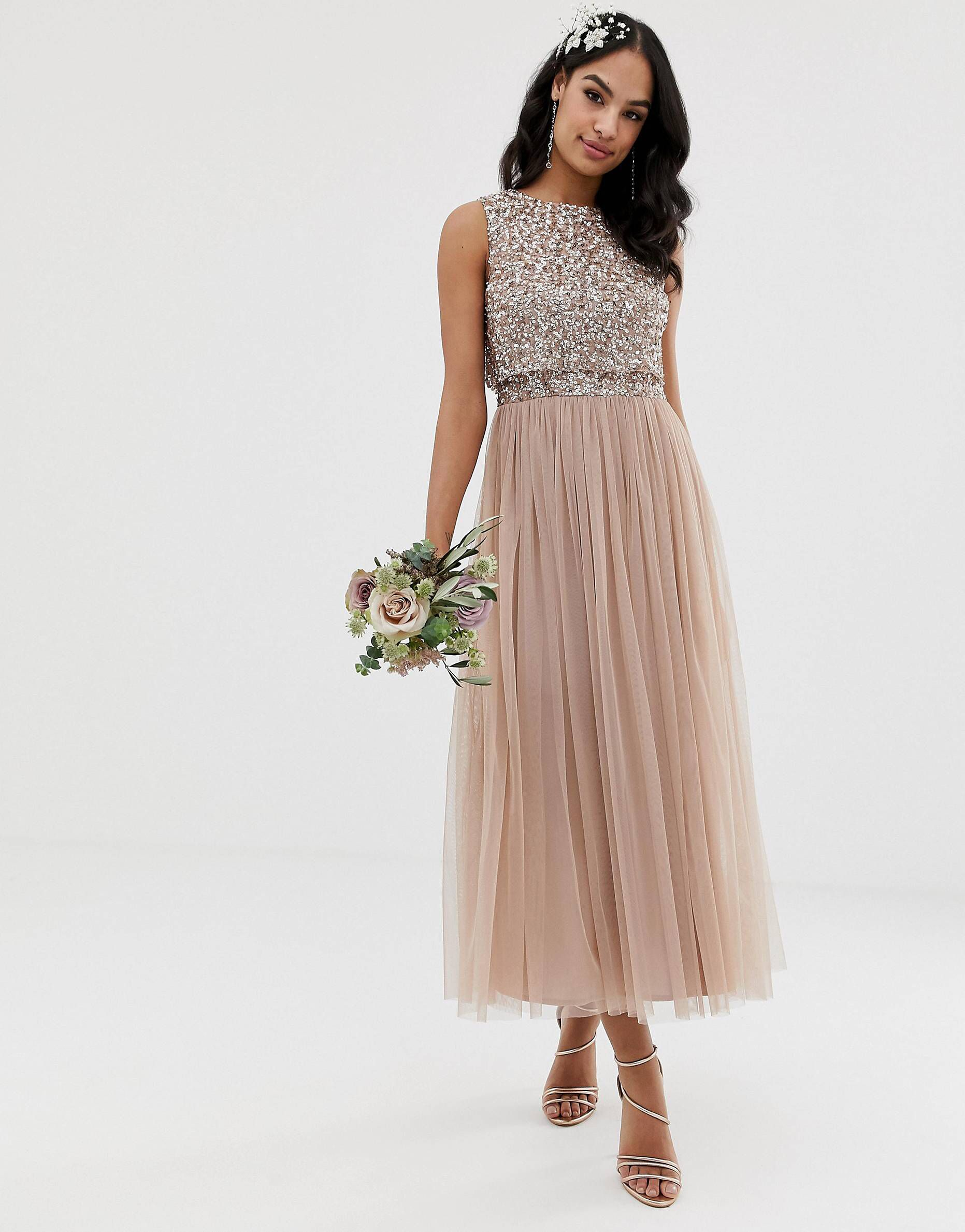 15b030e092 Maya Long Sleeved Maxi Dress With Delicate Sequin And Tulle Skirt Review
