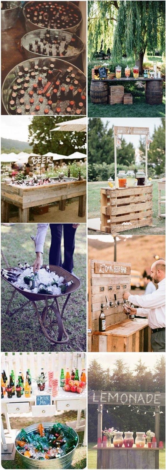 18 einzigartige & kreative Hochzeit Drink Bar Ideen für Hochzeit im Freien #ceremonyideas