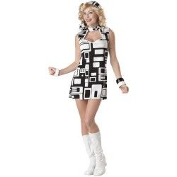 Groovy Chic outfit  on the borders of 60s/70s but still a favourite ... maybe its the boots :)  #70scostumes