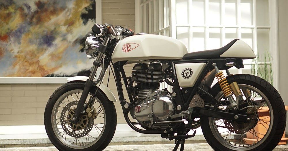 MotArt Royal Enfield Continental GT Royal Pearl By Chiltepe - Classic motorcycle custom stickers
