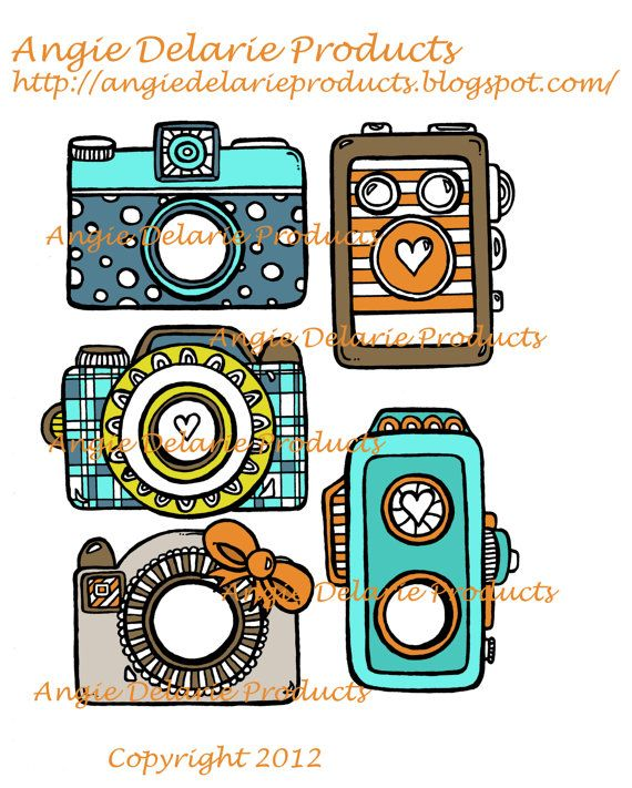 Old Vintage Camera's  Photo Embellishments by angiedelarie on Etsy, $3.00