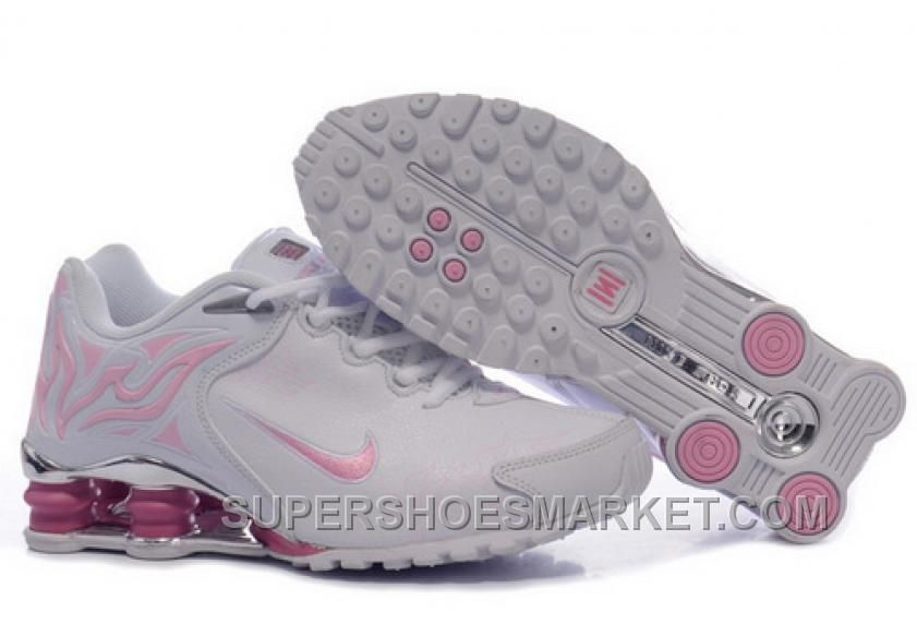 Discount Authentic Womens Nike Shox Torch Shoes White/Light Pink/Brilliant Silver