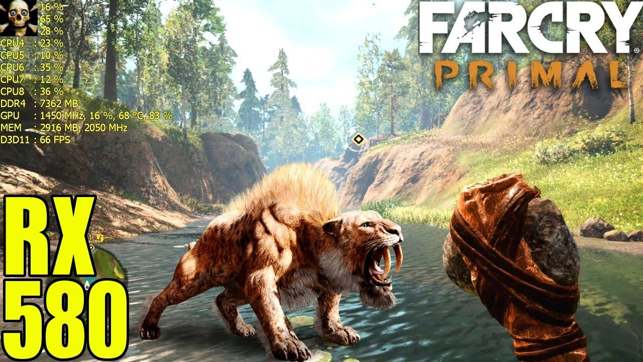Far Cry Primal Radeon Rx 580 Fps Performance Ultra Settings