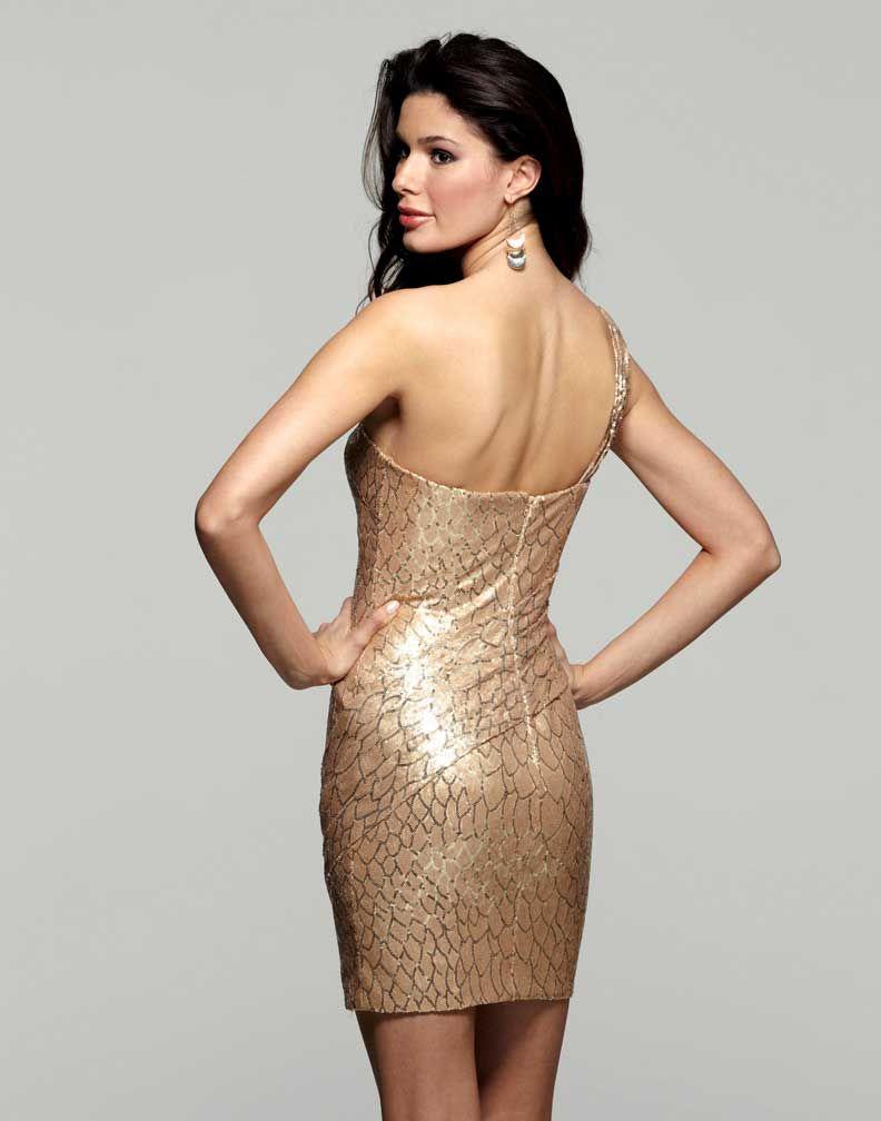 Short gold dress tgp