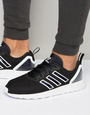 9ac6cd913 adidas Originals ZX Flux ADV Sneakers In Black S79005