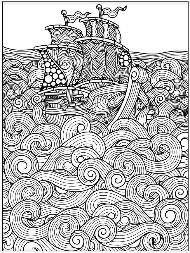 Sea Colouring Page Colorish Coloring App Yarnapp Desenho De
