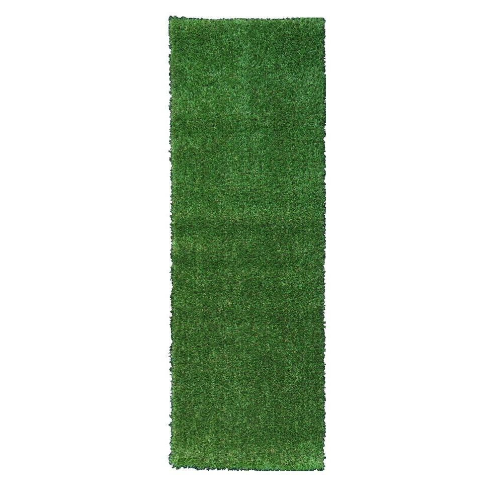 Ottomanson Garden Grass Collection 2 Ft X 5 Ft Artificial Grass Synthetic Lawn Turf Indoor Outdoor Carpet Runner Rug G800 2x5 Synthetic Lawn Outdoor Carpet Lawn Turf