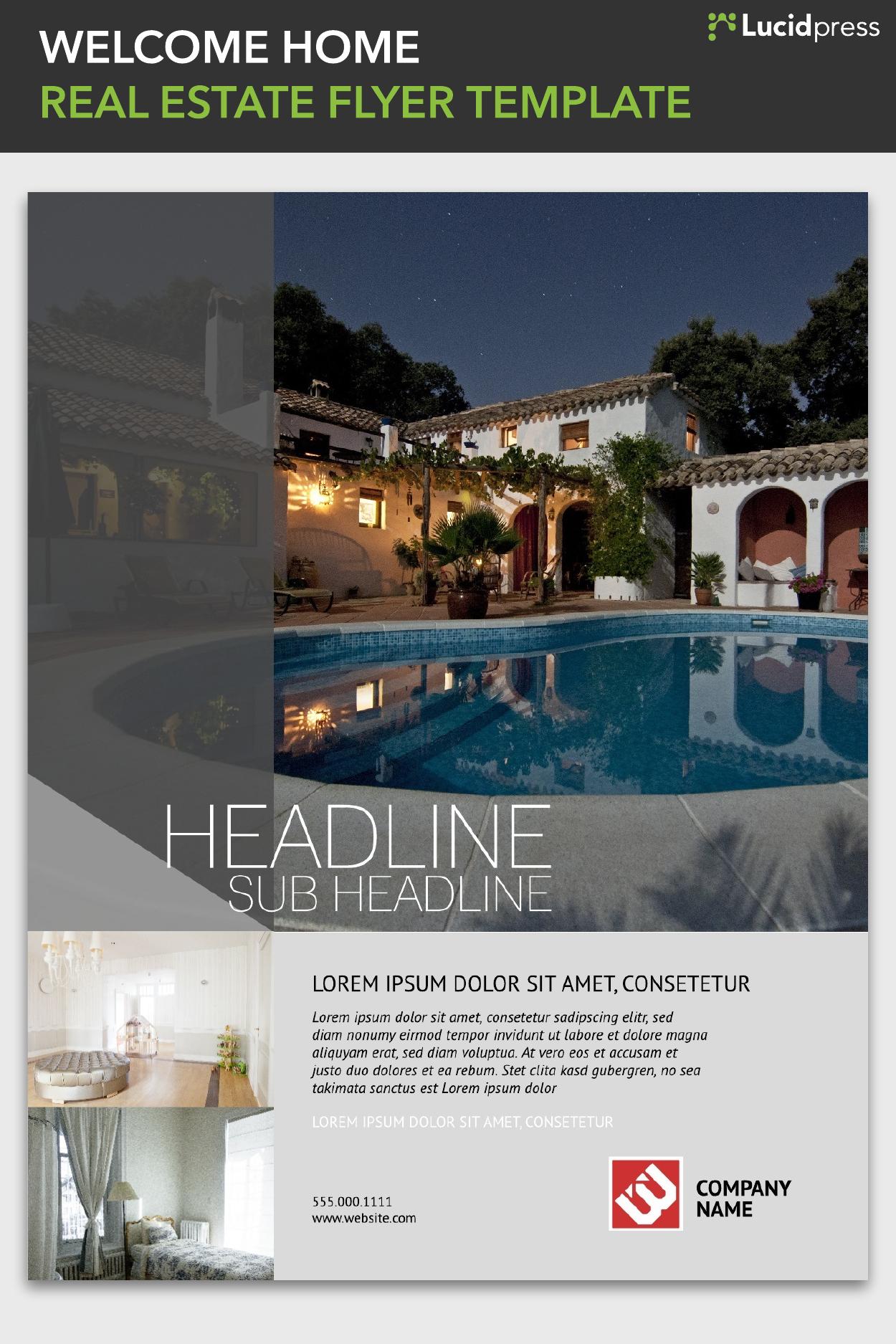 Free Real Estate Flyer Templates Free Flyer Templates Pinterest