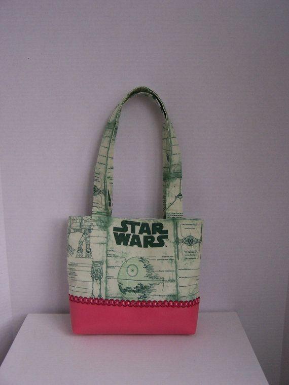 Star Wars themed handbag/purse with pink trim by pinklilypadbags