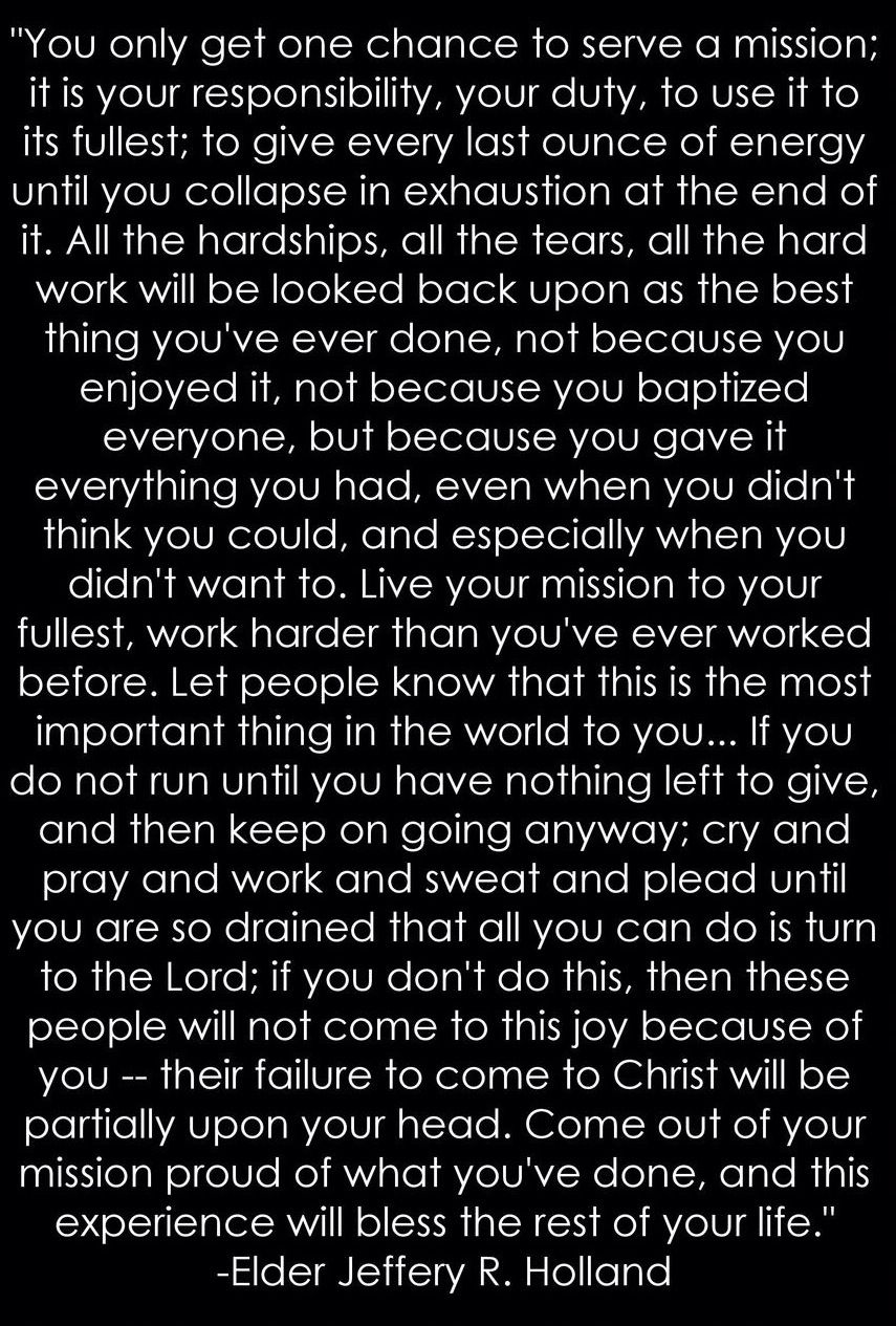 new favorite missionary quote <3 …   pinteres…