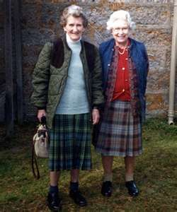 The Queen with her cousin Margaret Rhodes.