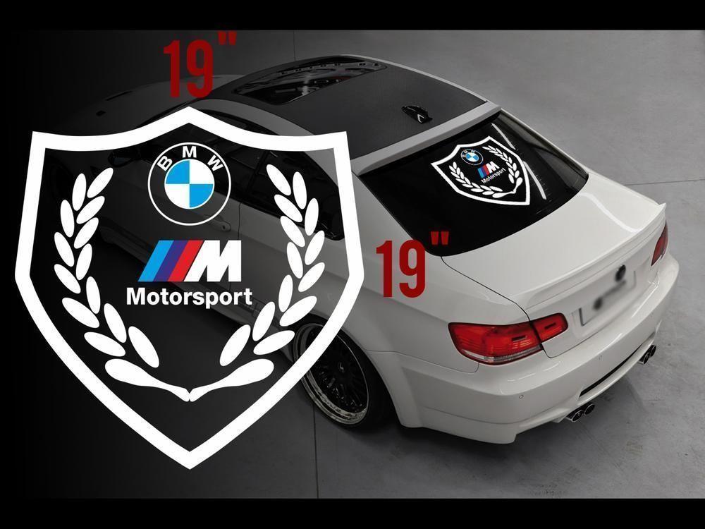 Bmw Motorsport M Logo Rear Window Vinyl Stickers Decals For M3 M5 M6 E36 All Bmw Rear Window Motorsport Window Vinyl