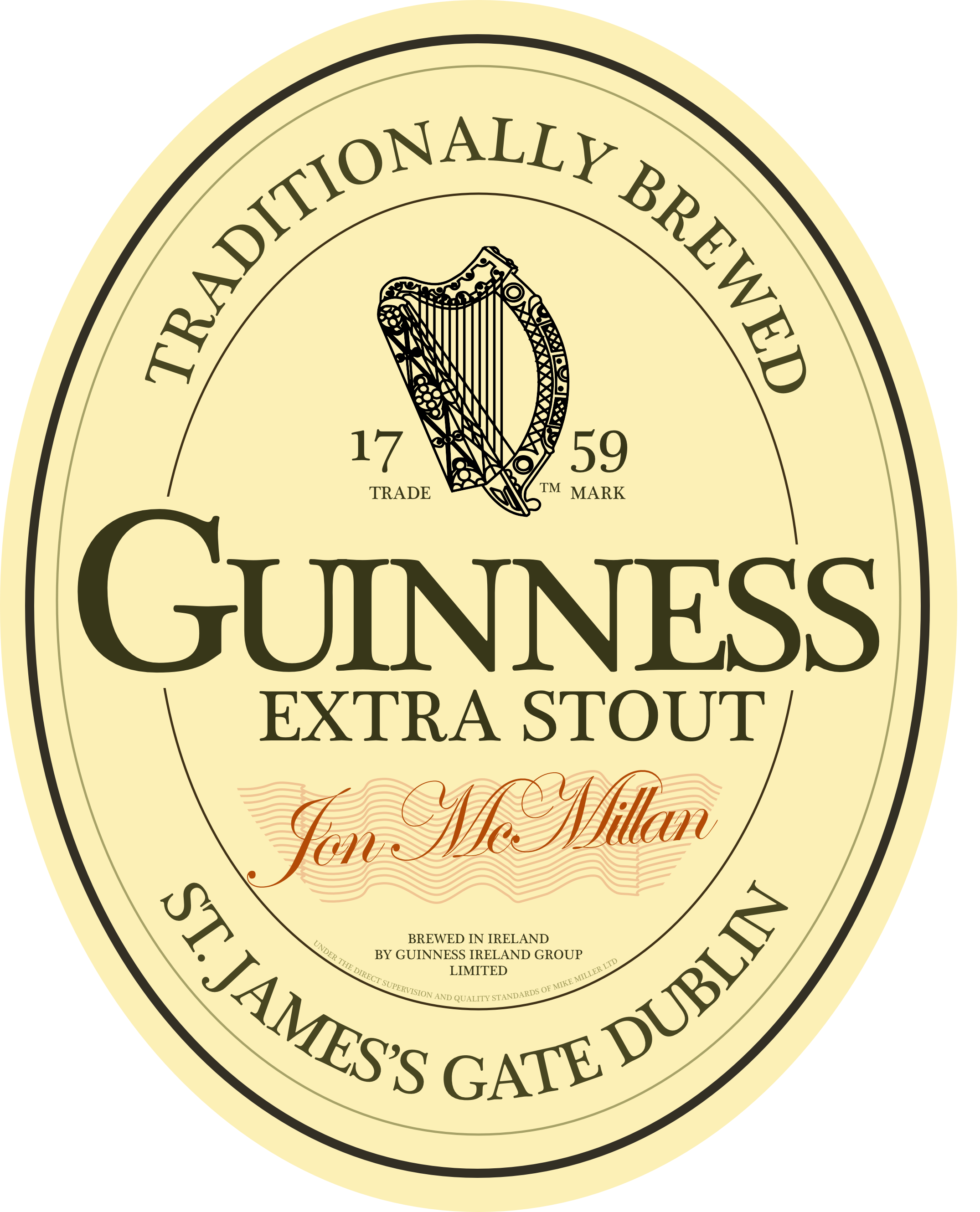 Practice Logo Made As A Vector Graphic In Sketch Dublin Ireland Guinness Graphic