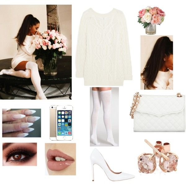 Ariana Grande by telfortsamantha on Polyvore featuring McQ by Alexander McQueen, American Apparel, Diavolina, Rebecca Minkoff and Reeds Jewelers