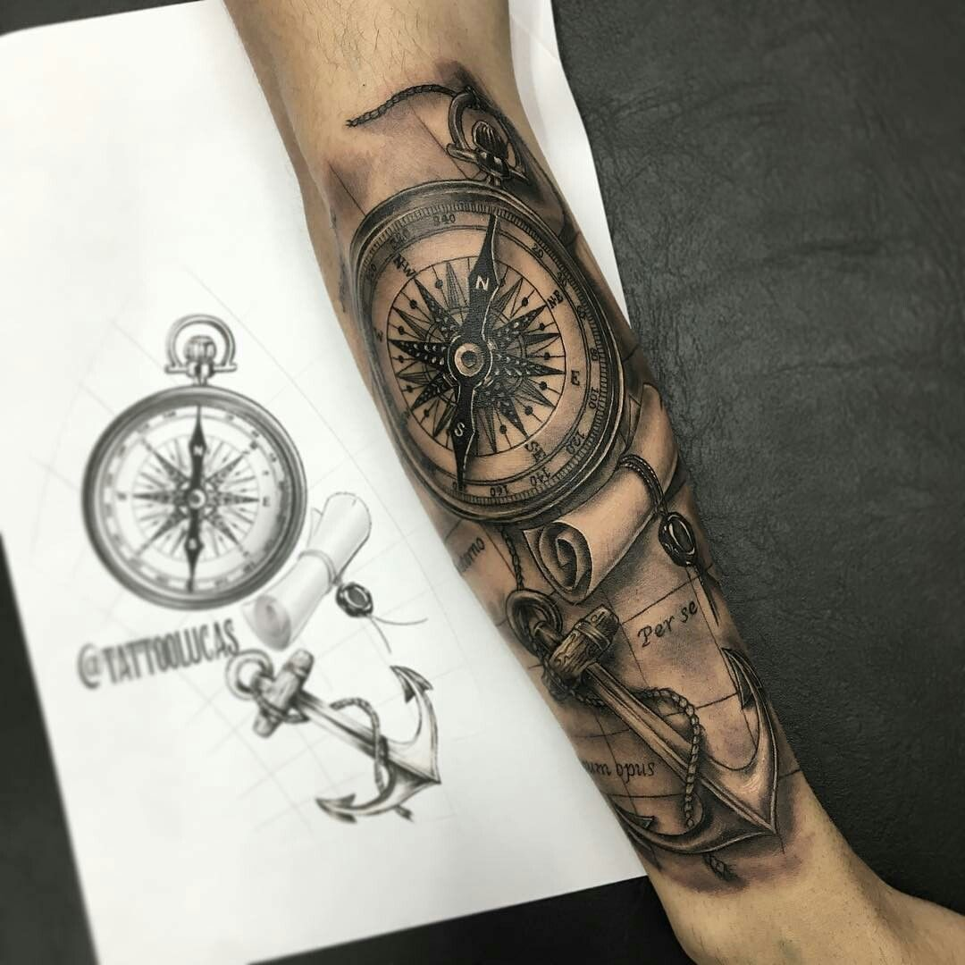 Pin by ki bo on tattoo s tatuagem bussola tatuagem for Tatoo bussola