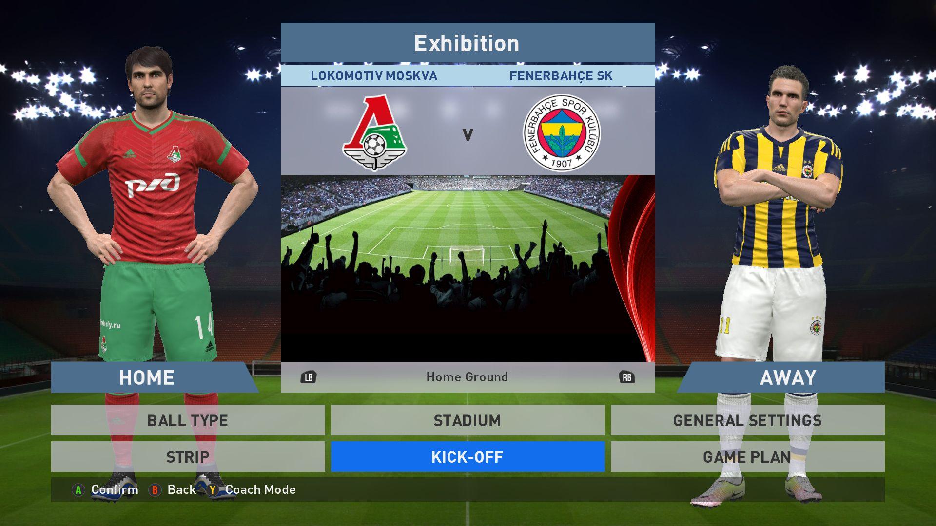 Lokomotiv Moskva Vs Fenerbahce Sk Lokomotiv Stadium Pes 2016 Pro Evolution Soccer 2016 Konami Pc Gameplay Pcga Pro Evolution Soccer Fenerbahce Sk Stadium
