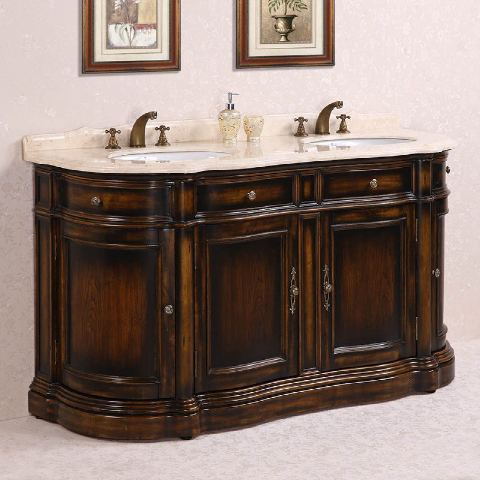 Legion Furniture Wh3066 66 In Double Bathroom Vanity Double Vanity Bathroom Vanity Sink Bathroom Vanity
