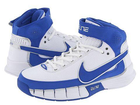 Blue/white Nikes