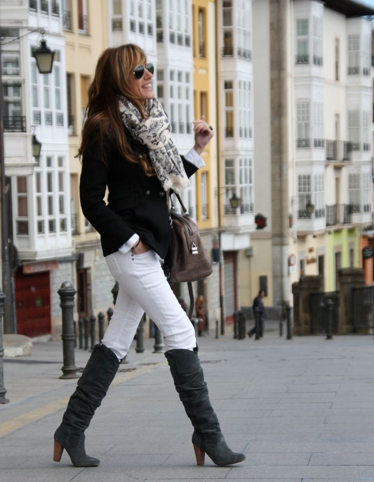 White in Winter-she rocks it. I wasn't sure I wanted boots until I ...