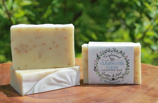 Tanglewood Organic Soap - Clearwater Clean Shampoo Bar - $9.
