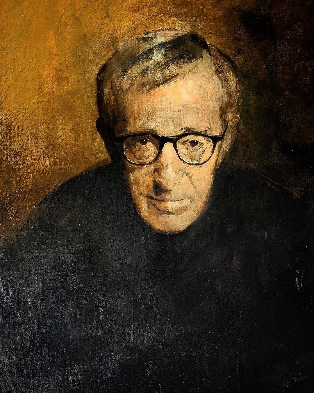 Woody Allen 130x89 oleo sobre lienzo #woodyallen #art #arte ...