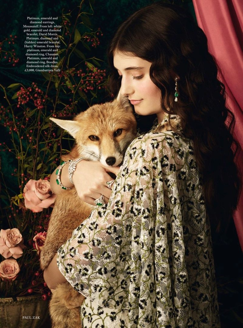 Photo of Emily Reda Stuns in Pre-Raphaelite Styles for Harper's Bazaar UK