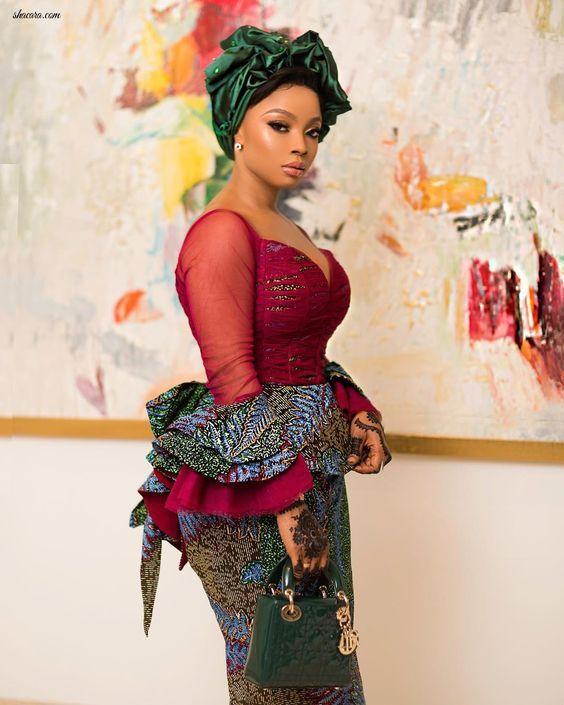 Creative Ankara Skirt and Blouse #nigeriandressstyles
