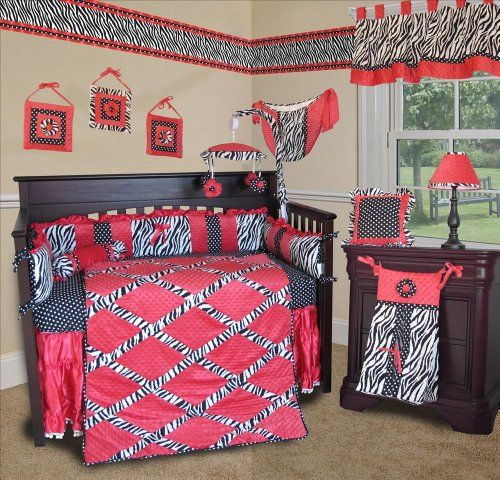 Hot Pink Zebra Baby Bedding Set By Sisi Will Help You Create An - Baby girl zebra crib bedding sets