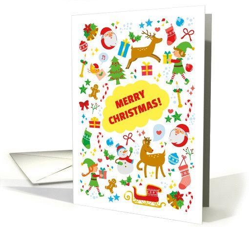 Christmas card   collection of cute Christmas cartoons card